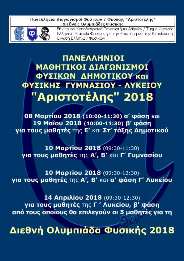 Πανελλήνιος Διαγωνισμός Φυσικής «Αριστοτέλης»