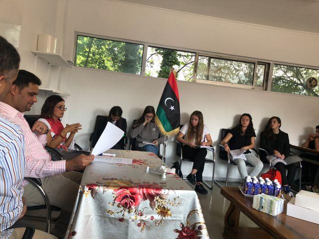 Επίσκεψη μαθητών στις πρεσβείες τής Ισπανίας και Σερβίας και στο Λιβυκό Σχολείο Αθήνας