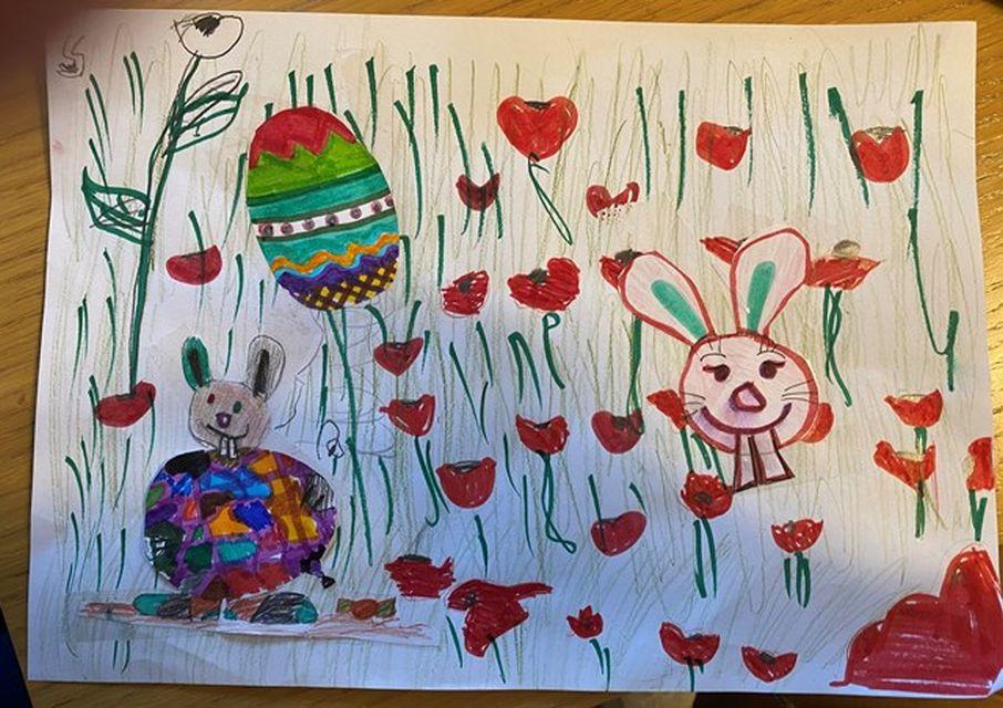 Η προοπτική στη ζωγραφική συναντάει την Άνοιξη και ένας λαγός παραμονεύει το Πάσχα!