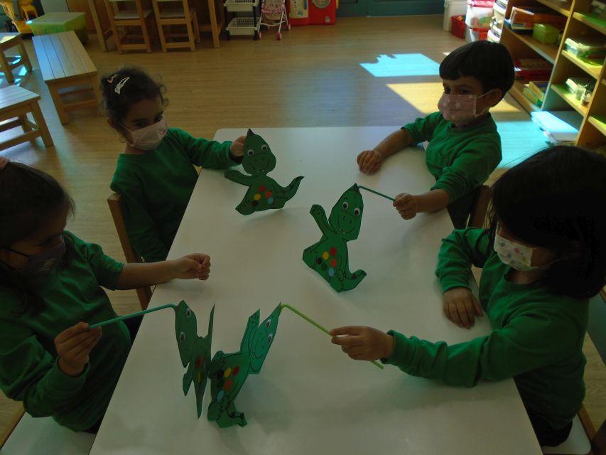 """Dinosaur, Dinosaur turn around! Dinosaur, Dinosaur stomp the ground!"""
