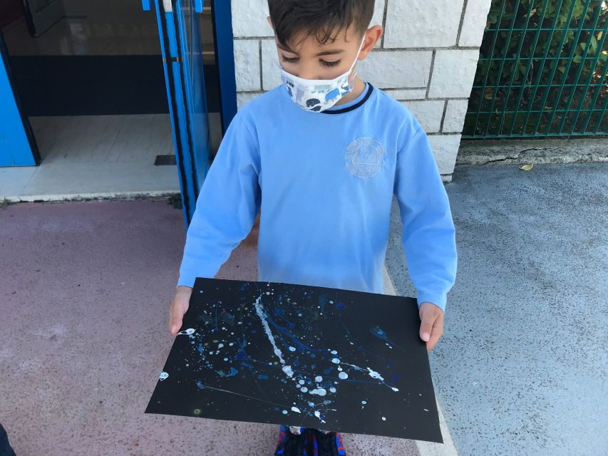 Δημιουργίες με το σημείο στο μάθημα των Εικαστικών - Paul Jackson Pollock