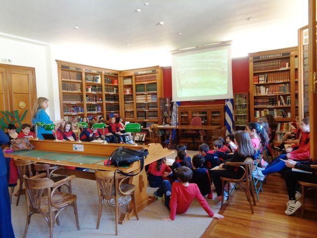 Επίσκεψη τής συγγραφέως και αρχαιολόγου κ.Εύης Παπαδοπούλου