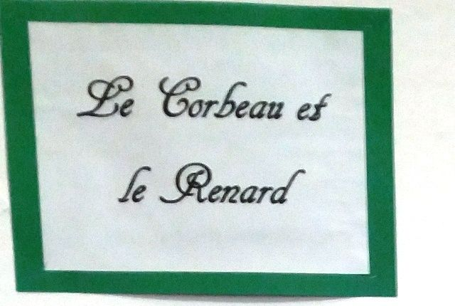 """Fables de Lafontaine: """"Le corbeau et le renar"""""""