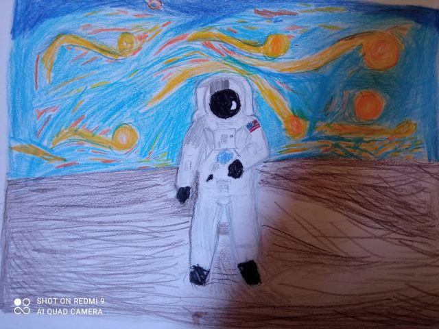Συμμετοχή στον διαγωνισμό «Διαστημικές εικόνες - Καλλιτεχνικές εκφράσεις»