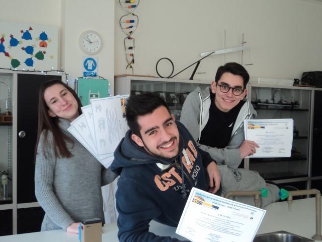 1η θέση στον Τοπικό Διαγωνισμό Πειραμάτων EUSO